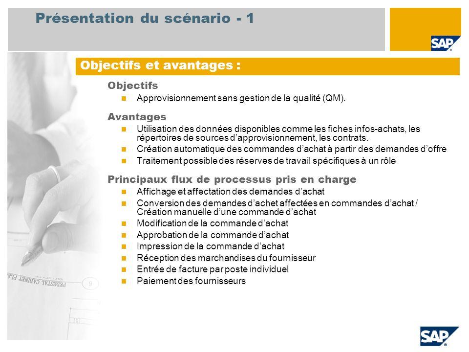 Présentation du scénario - 1
