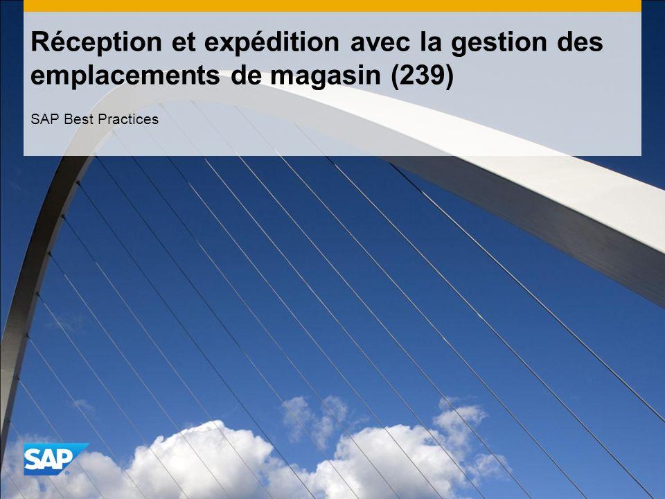 Réception et expédition avec la gestion des emplacements de magasin (239)