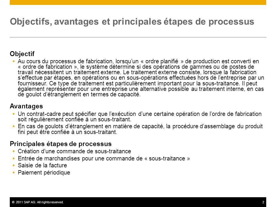 Objectifs, avantages et principales étapes de processus