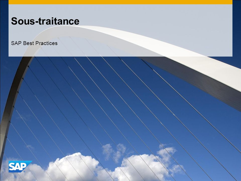 Sous-traitance SAP Best Practices