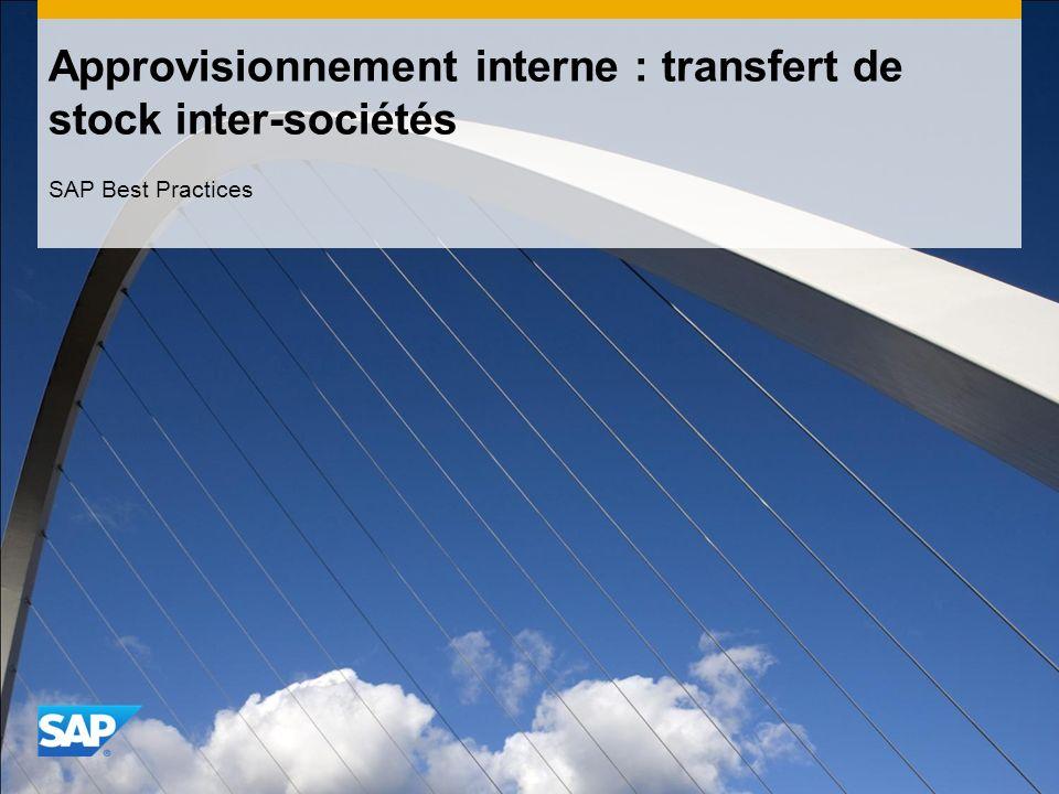 Approvisionnement interne : transfert de stock inter-sociétés