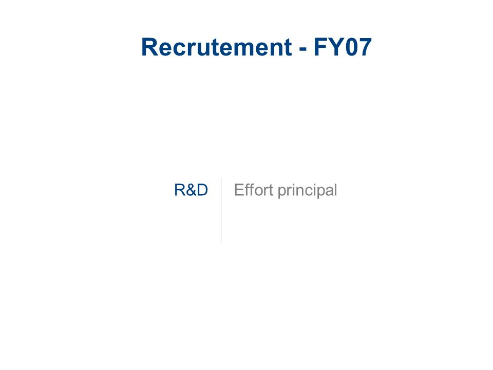 Recrutement - FY07 R&D Effort principal
