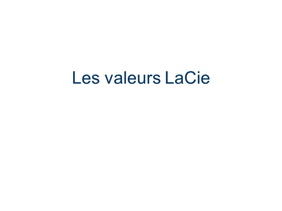 Les valeurs LaCie