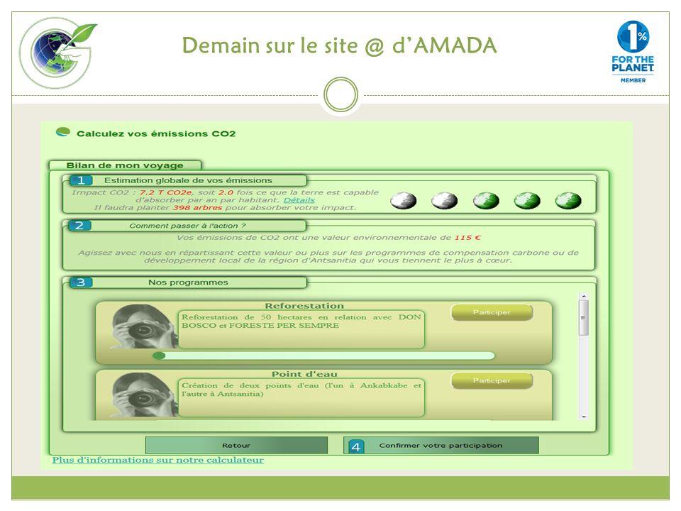 Demain sur le site @ d'AMADA