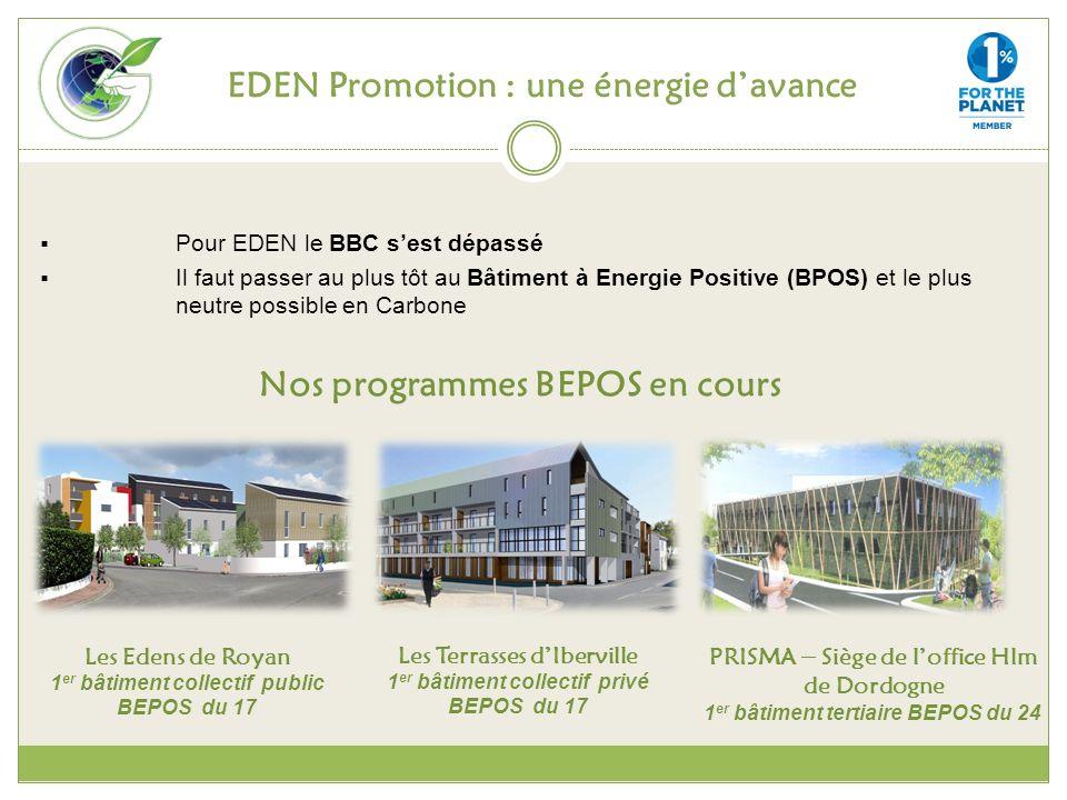 EDEN Promotion : une énergie d'avance