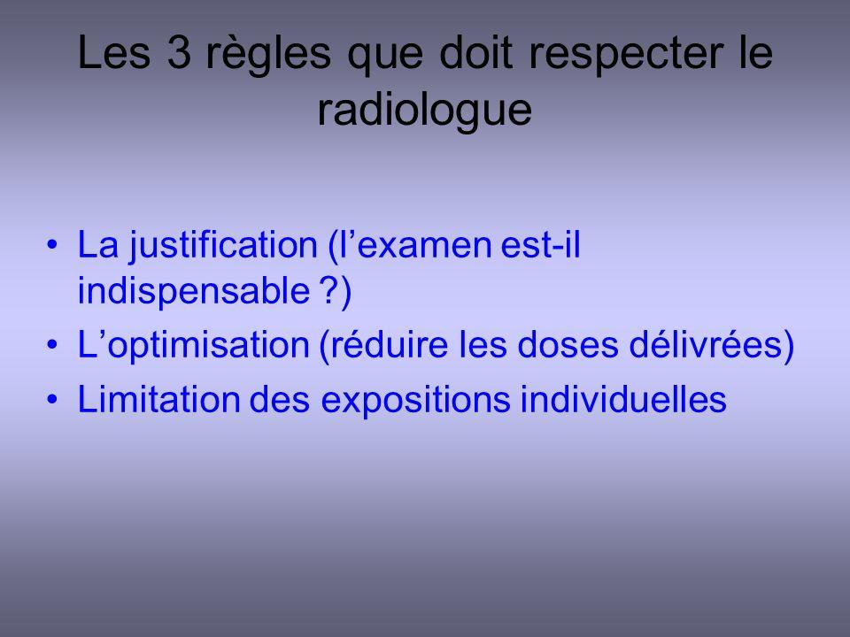 Les 3 règles que doit respecter le radiologue