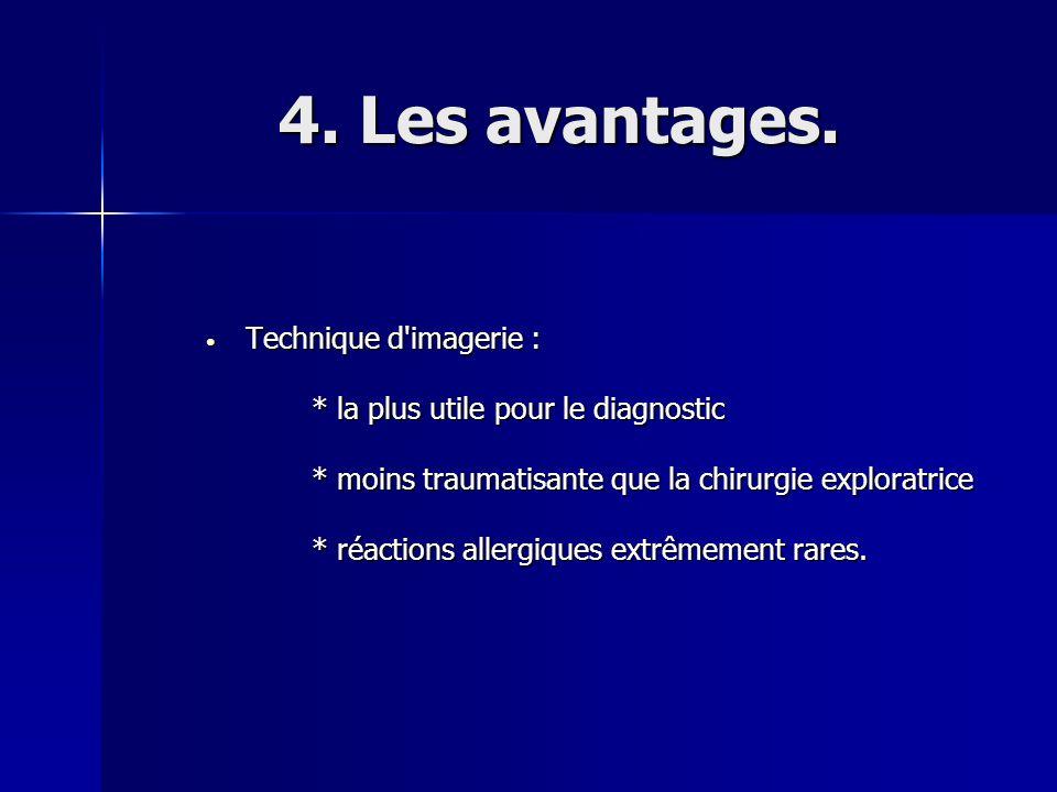 4. Les avantages. Technique d imagerie :