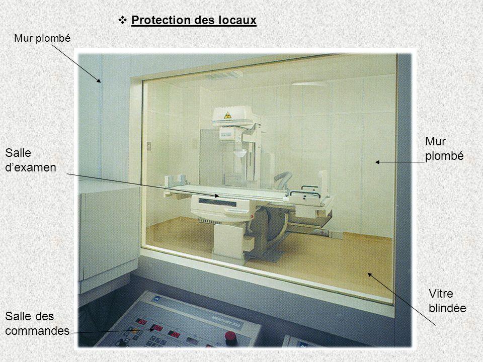 Protection des locaux Mur plombé Salle d'examen Vitre blindée