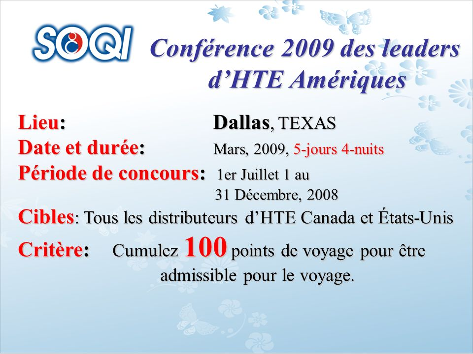 Conférence 2009 des leaders