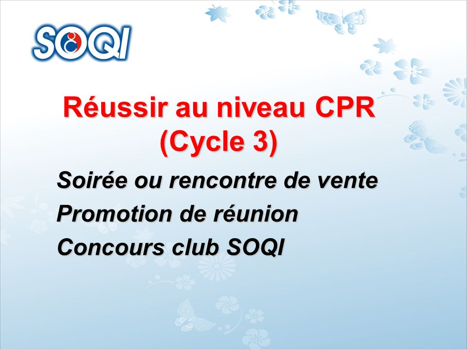 Réussir au niveau CPR (Cycle 3)