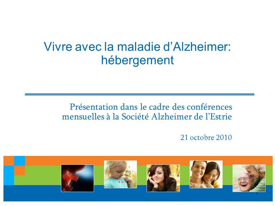 Vivre avec la maladie d'Alzheimer: hébergement