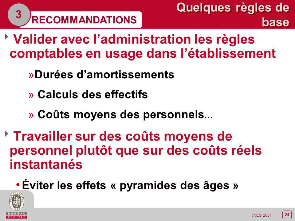 3 Quelques règles de base. RECOMMANDATIONS. Valider avec l'administration les règles comptables en usage dans l'établissement.