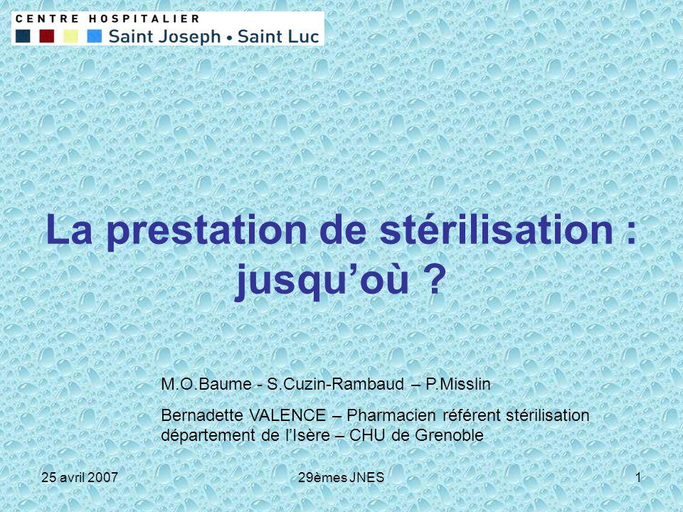La prestation de stérilisation : jusqu'où