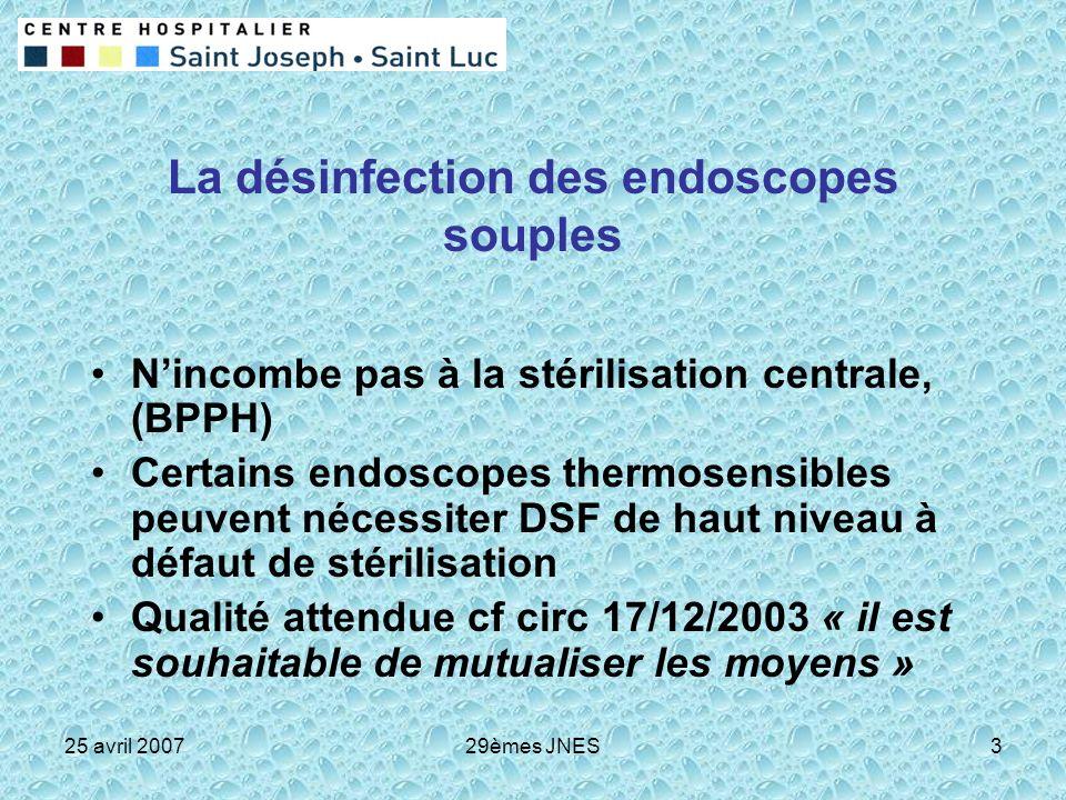 La désinfection des endoscopes souples