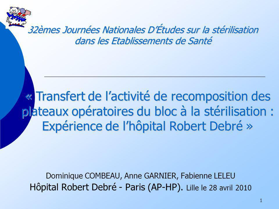 Expérience de l'hôpital Robert Debré »