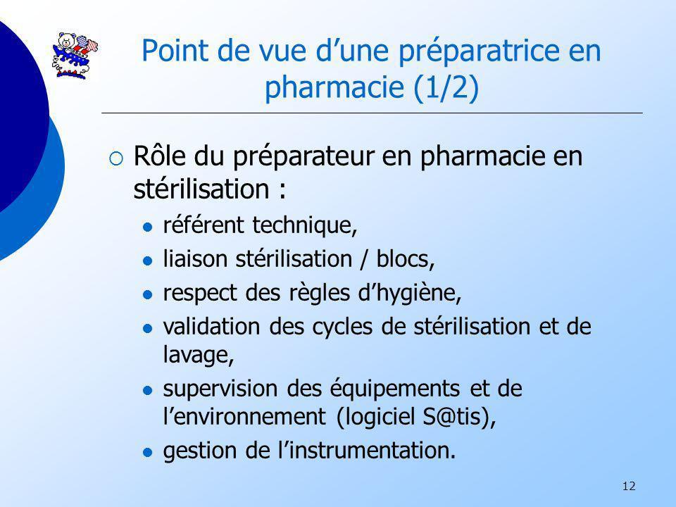 Point de vue d'une préparatrice en pharmacie (1/2)
