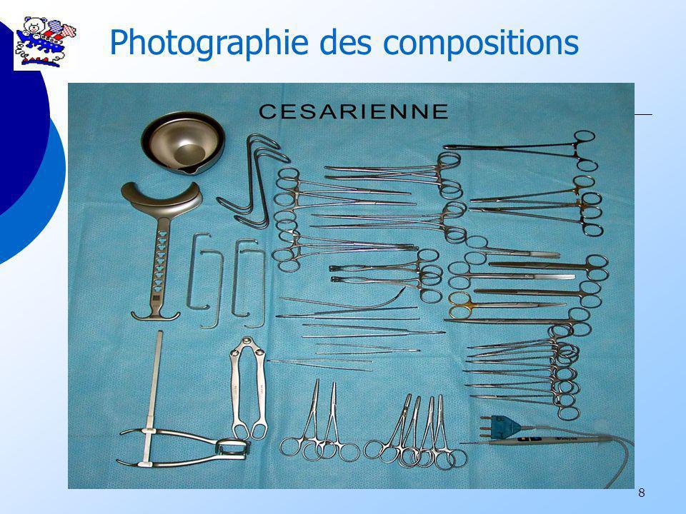 Photographie des compositions