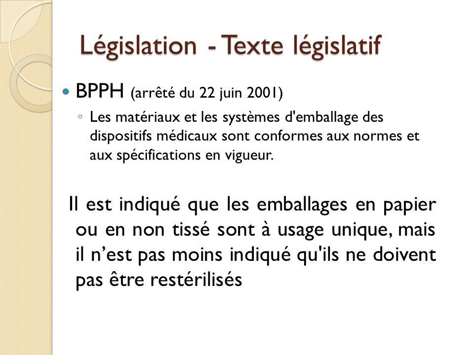 Législation - Texte législatif