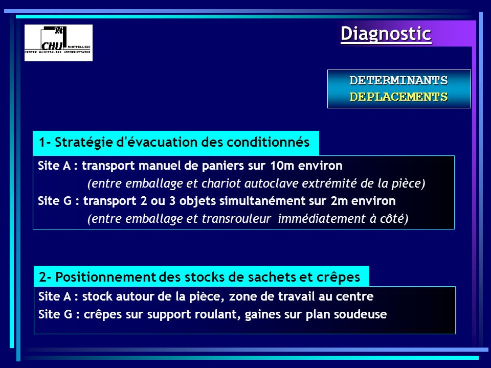 DETERMINANTS DEPLACEMENTS