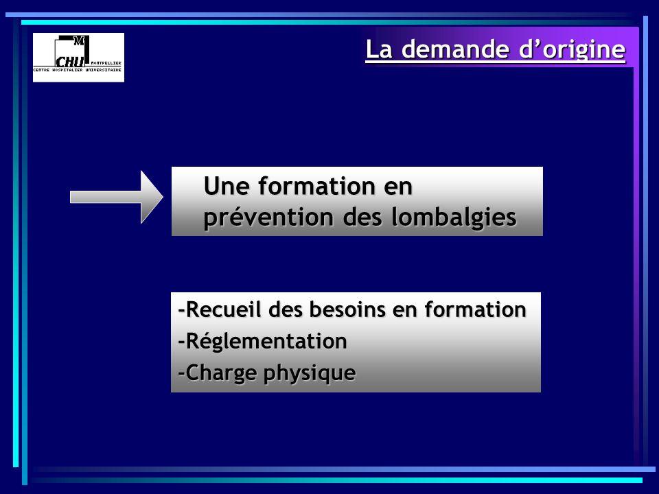 Une formation en prévention des lombalgies