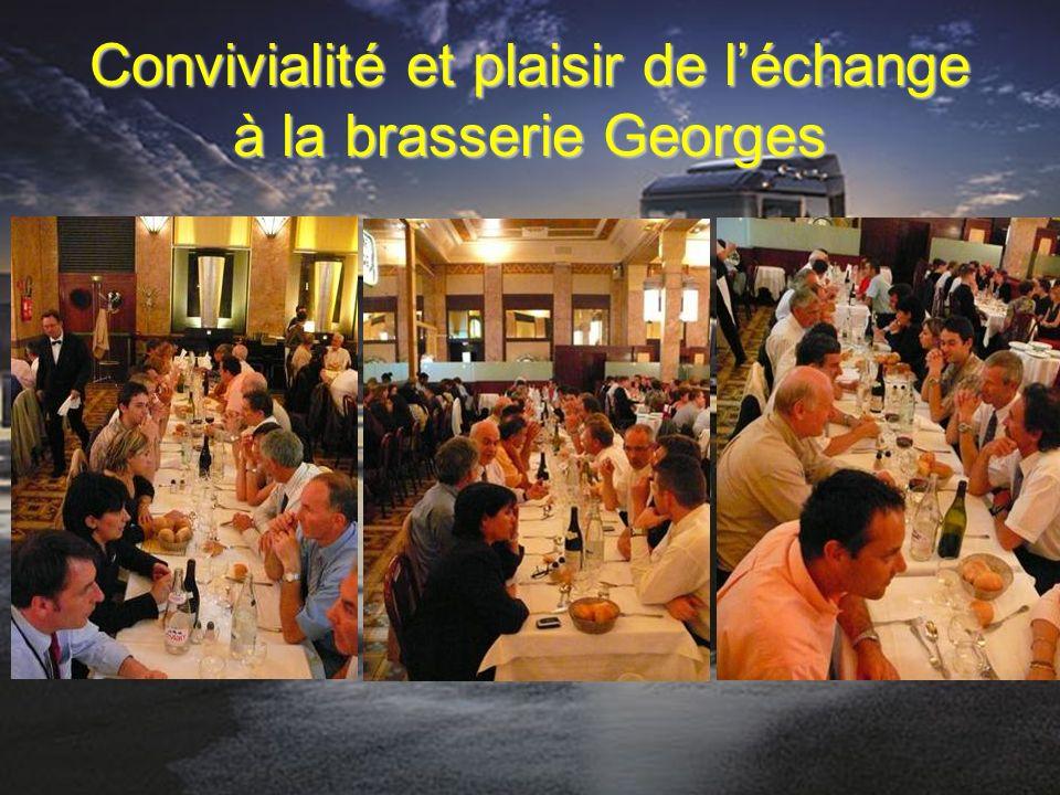 Convivialité et plaisir de l'échange à la brasserie Georges