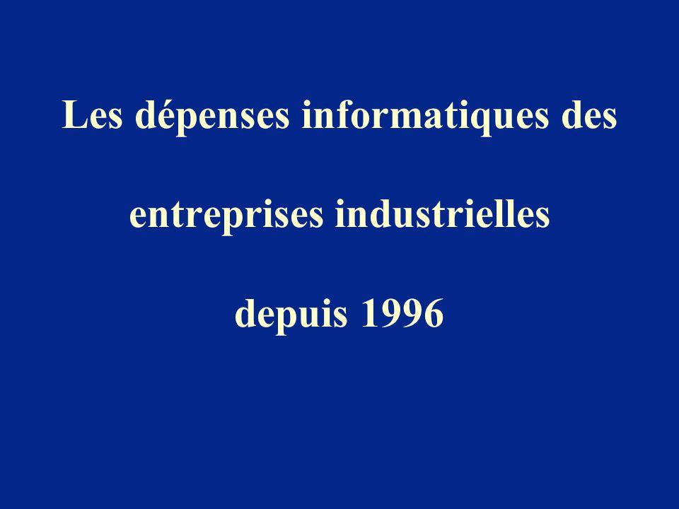 Les dépenses informatiques des entreprises industrielles depuis 1996
