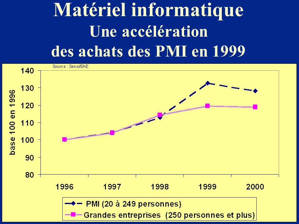Matériel informatique Une accélération des achats des PMI en 1999