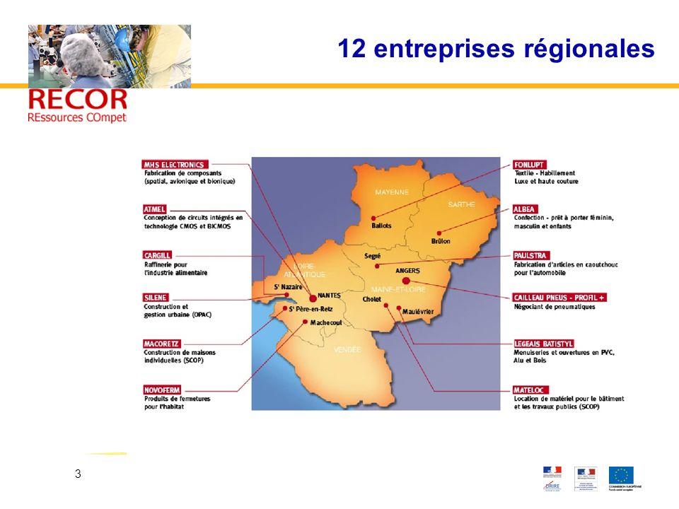 12 entreprises régionales