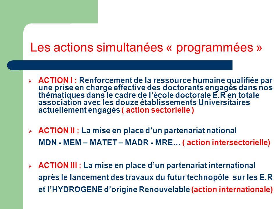 Les actions simultanées « programmées »
