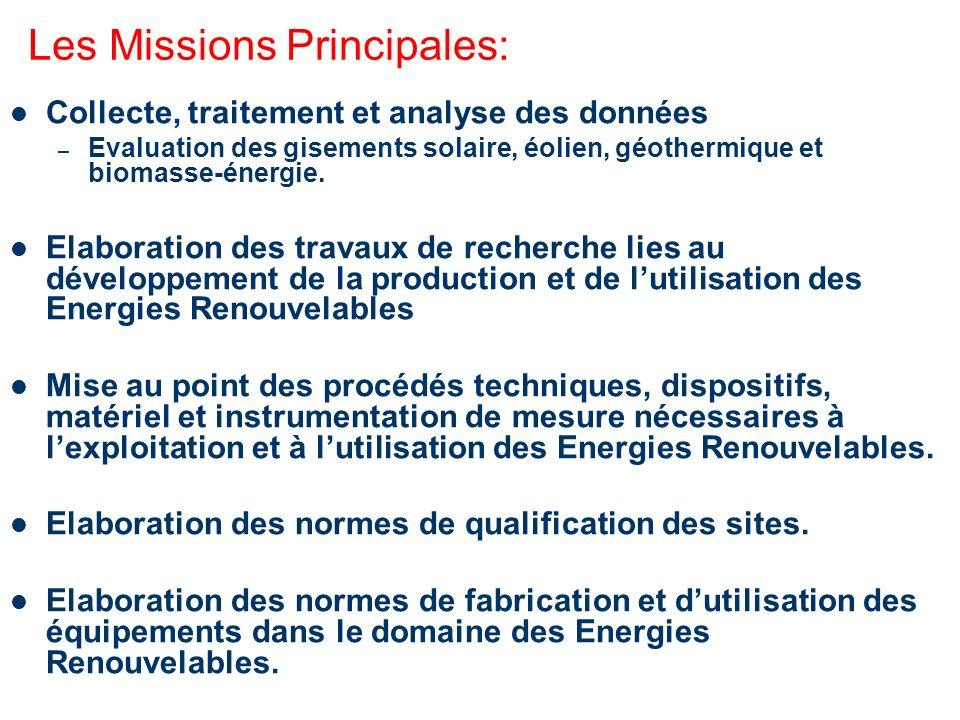 Les Missions Principales: