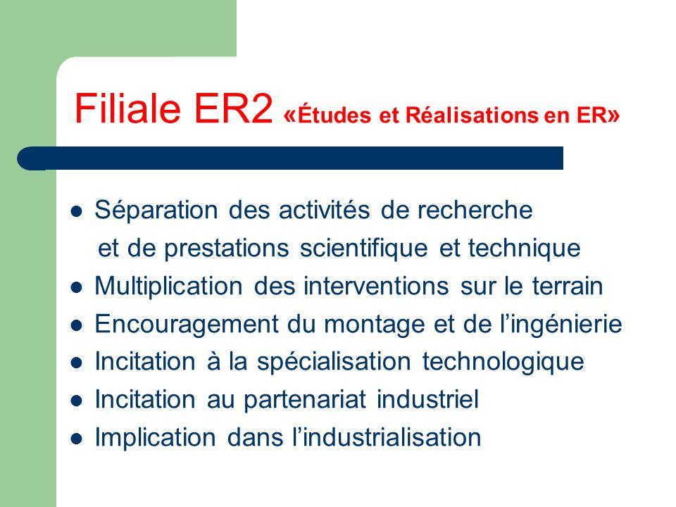 Filiale ER2 «Études et Réalisations en ER»