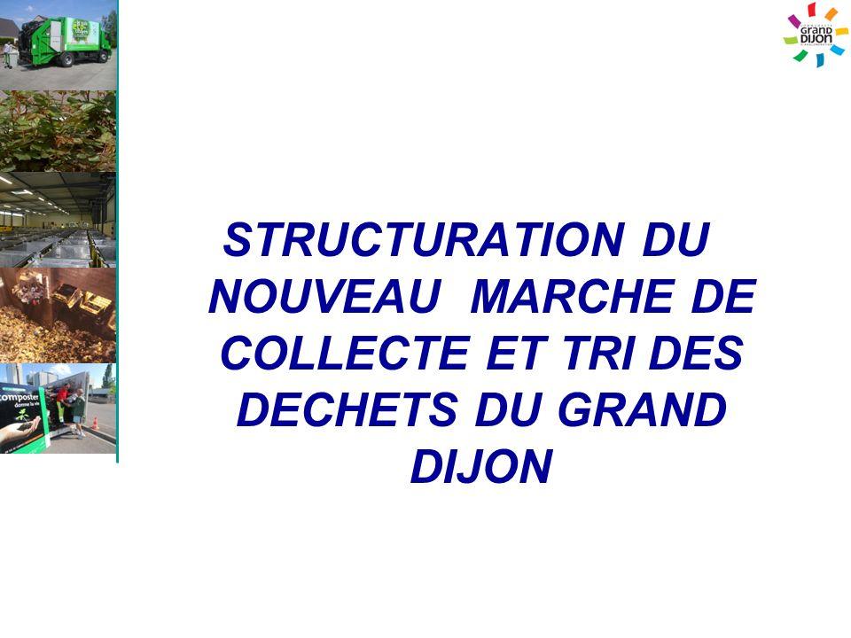 STRUCTURATION DU NOUVEAU MARCHE DE COLLECTE ET TRI DES DECHETS DU GRAND DIJON