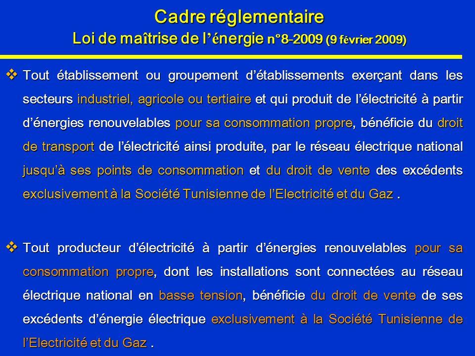 Loi de maîtrise de l'énergie n°8-2009 (9 février 2009)