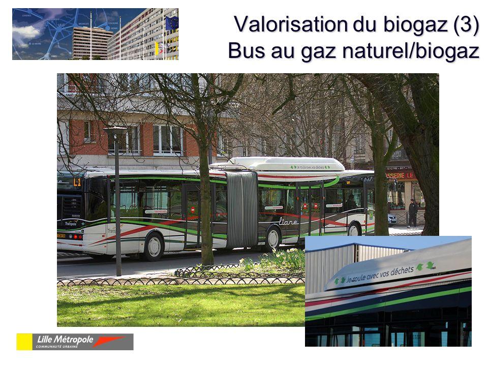 Valorisation du biogaz (3) Bus au gaz naturel/biogaz