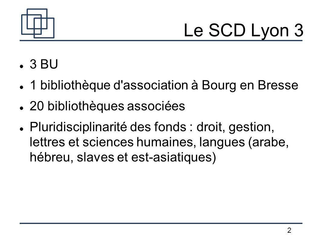 Le SCD Lyon 3 3 BU 1 bibliothèque d association à Bourg en Bresse