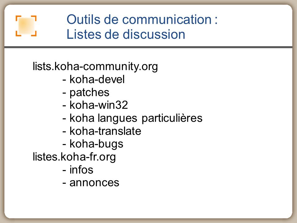 Outils de communication : Listes de discussion