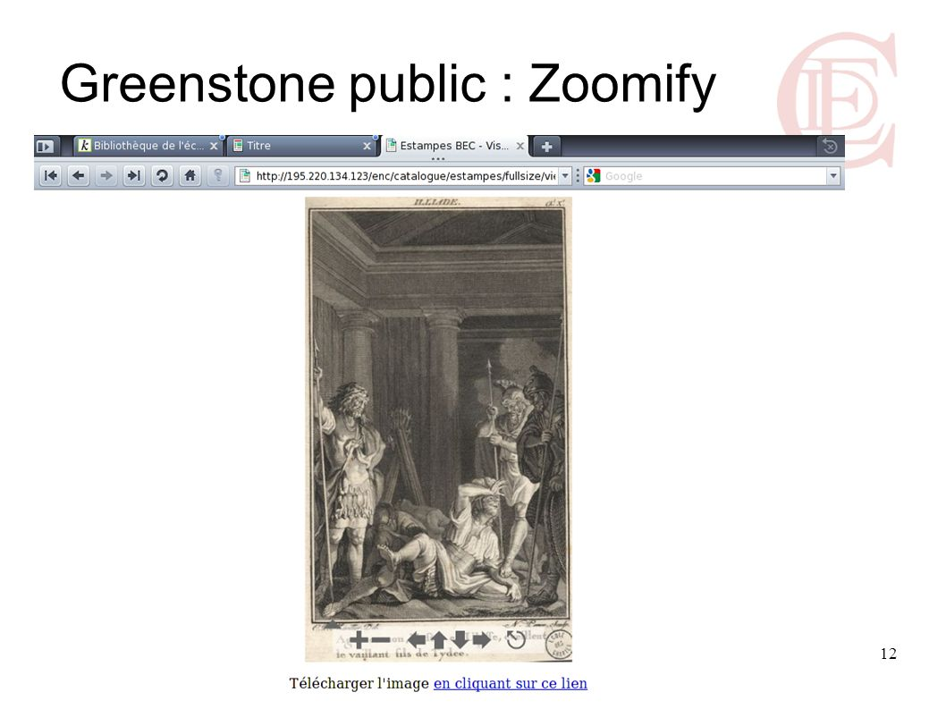 Greenstone public : Zoomify