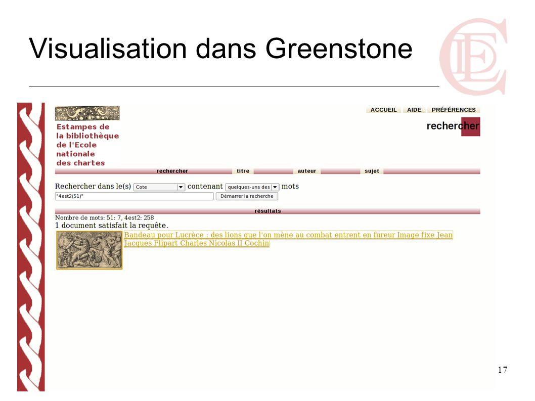 Visualisation dans Greenstone