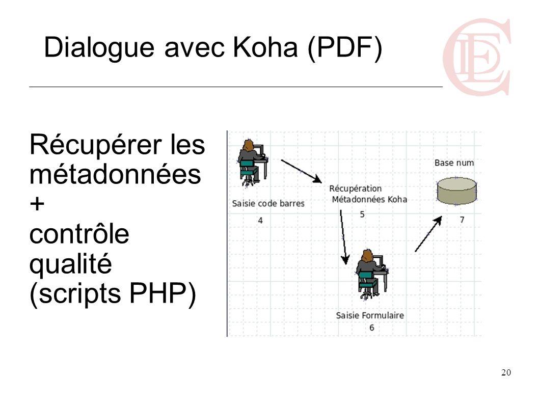 Récupérer les métadonnées + contrôle qualité (scripts PHP)