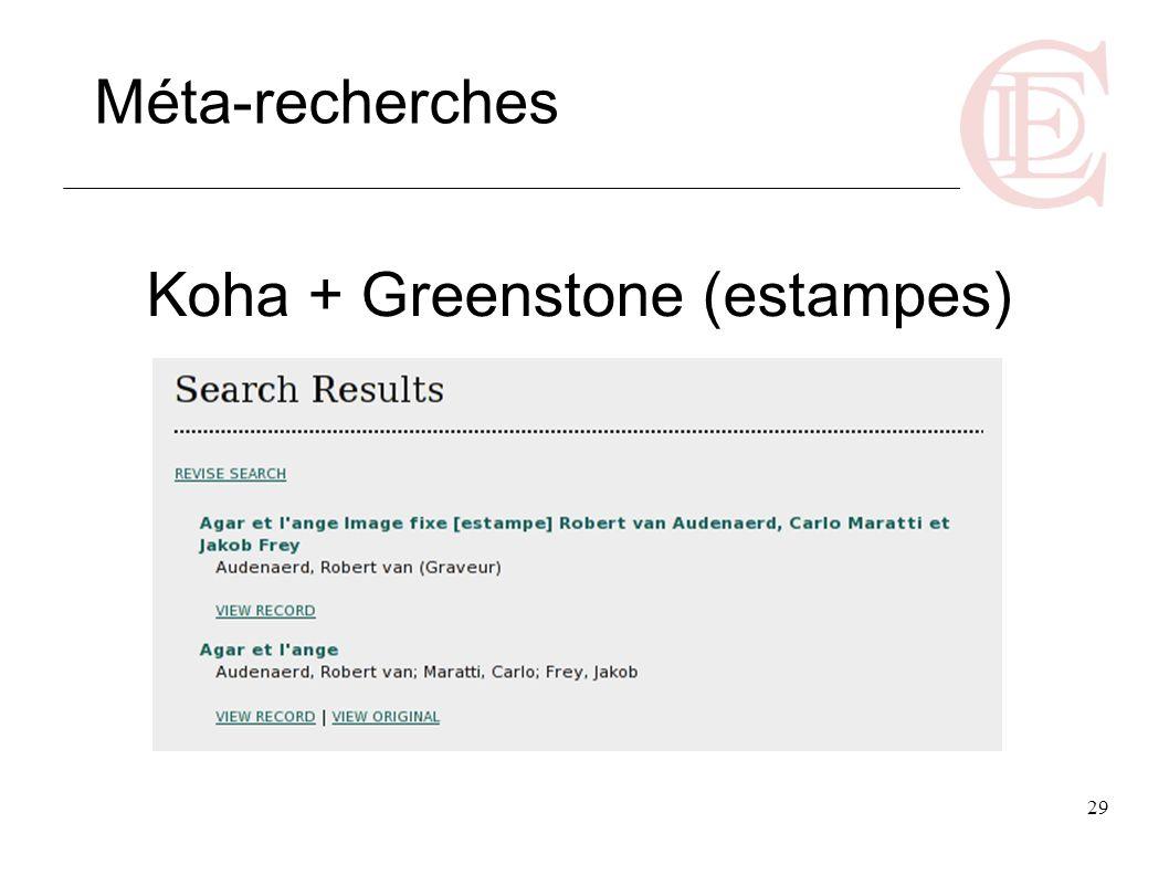 Koha + Greenstone (estampes)