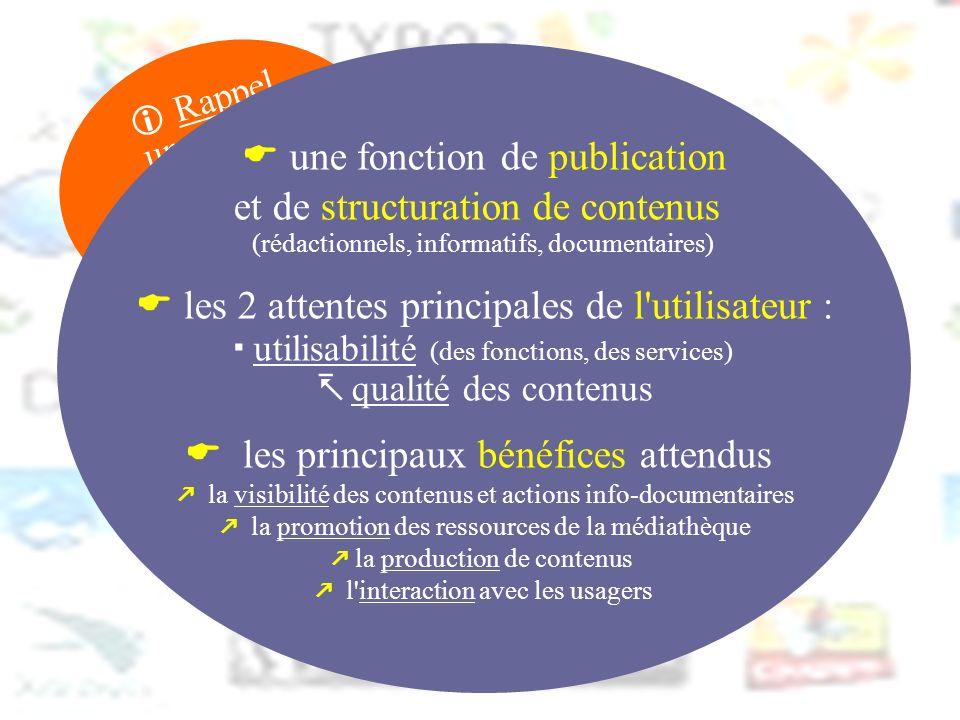  une fonction de publication et de structuration de contenus