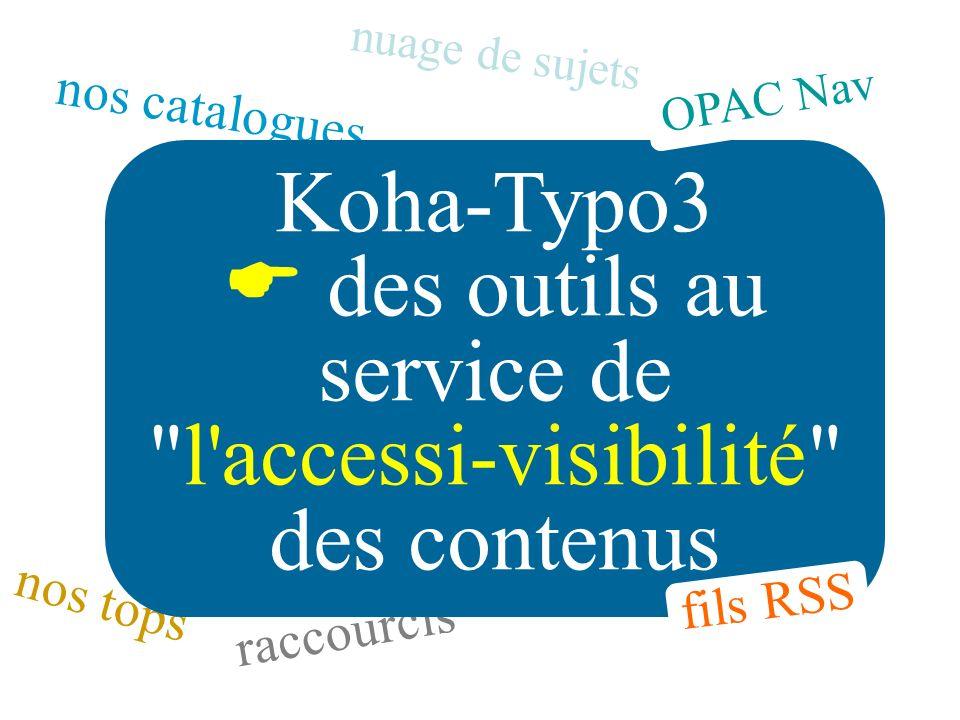 Koha-Typo3  des outils au service de l accessi-visibilité