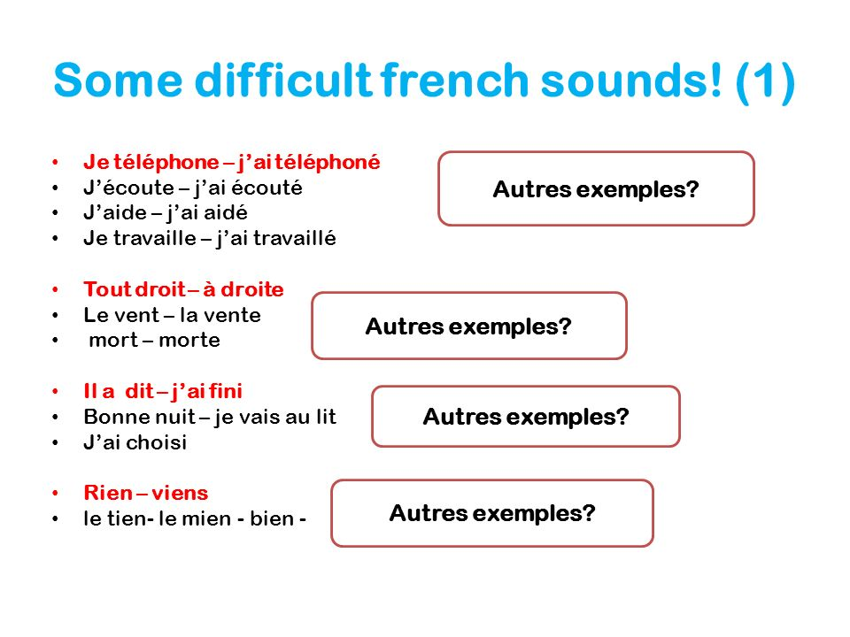 Some difficult french sounds! (1)