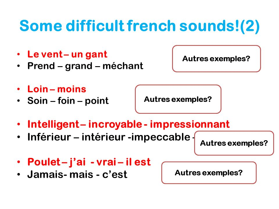 Some difficult french sounds!(2)