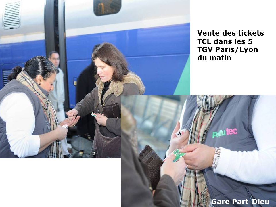 Vente des tickets TCL dans les 5 TGV Paris/Lyon du matin