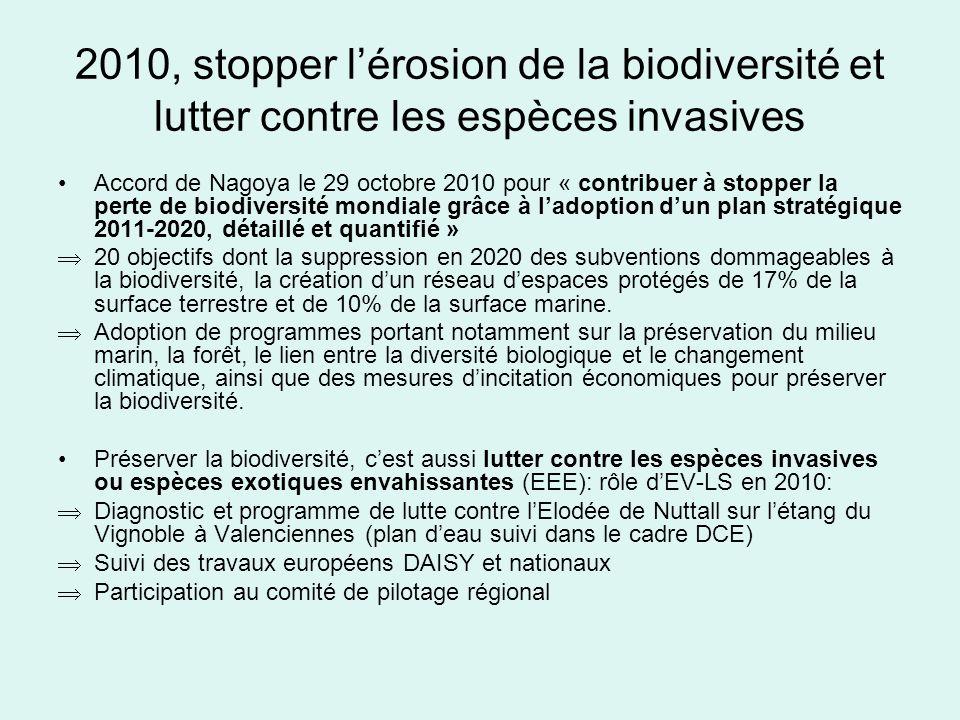 2010, stopper l'érosion de la biodiversité et lutter contre les espèces invasives