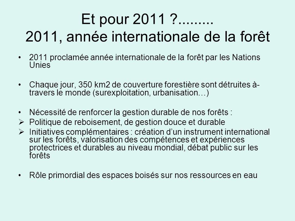 Et pour 2011 ......... 2011, année internationale de la forêt