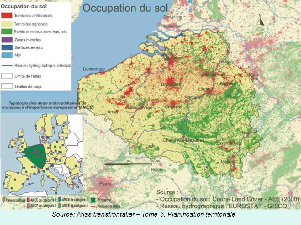 Source: Atlas transfrontalier – Tome 5: Planification territoriale