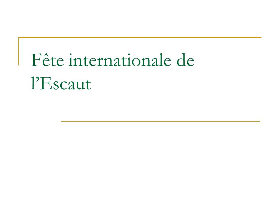 Fête internationale de l'Escaut