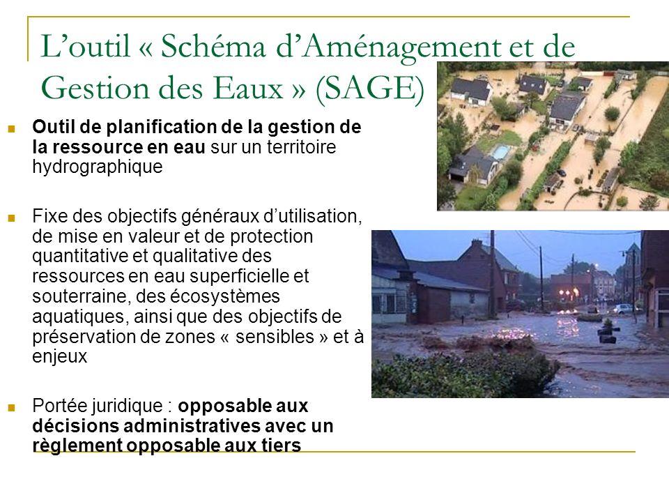 L'outil « Schéma d'Aménagement et de Gestion des Eaux » (SAGE)